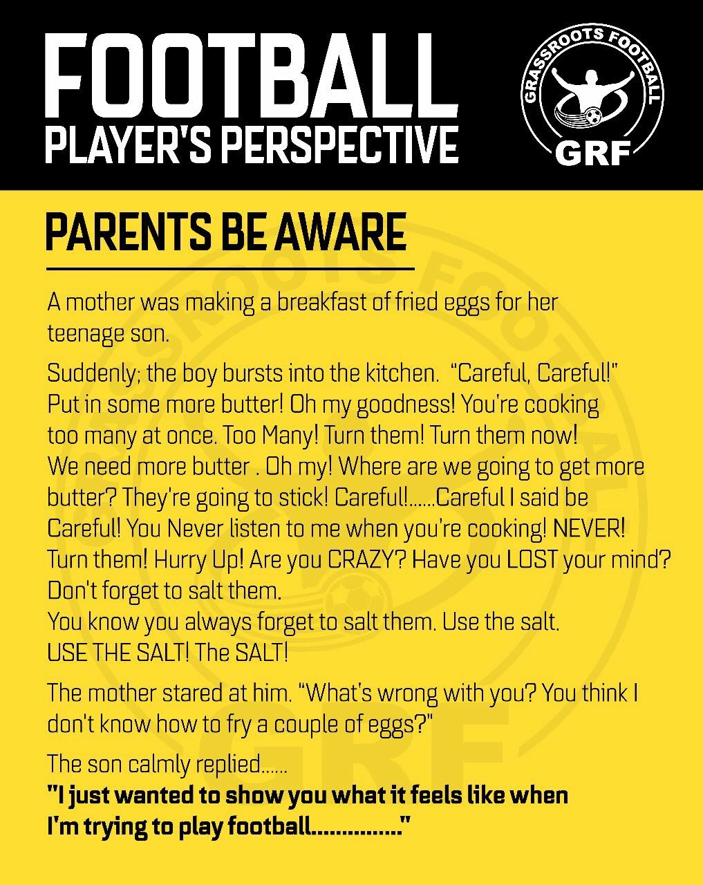 Through the eyes of our young footballers.....